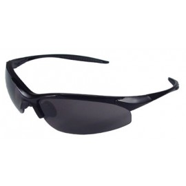 Rad-Infinity Safety Glasses with Black Frame and Smoke Lens