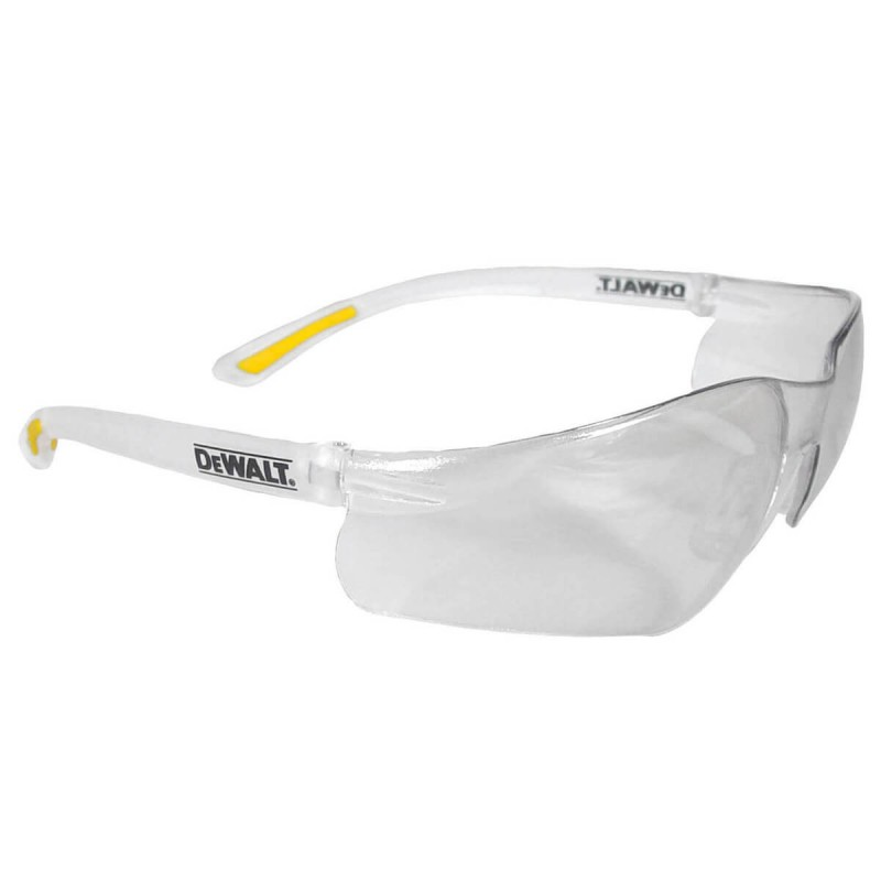 DEWALT Contractor Pro- Clear Lens Safety Glasses Frameless Style Clear Color - 12 Pairs / Box