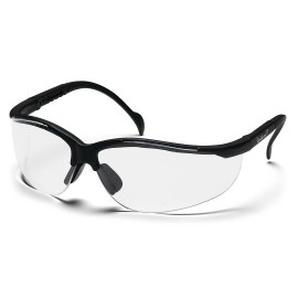 Pyramex Safety - Venture II - Black Frame/Clear Anti-Fog Lens Polycarbonate Safety Glasses - 12 / BX