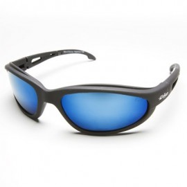 Edge Dakura Polarized Safety Glasses - Aqua Precision Blue Mirror Lens