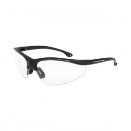 Radians Brigade Matte Black Clear Safety Glasses 12 PR/Box
