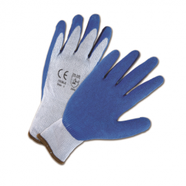 West Chester 700SLC Blue Crinkle Finish Latex Palm Coated Work Gloves 12 Pairs
