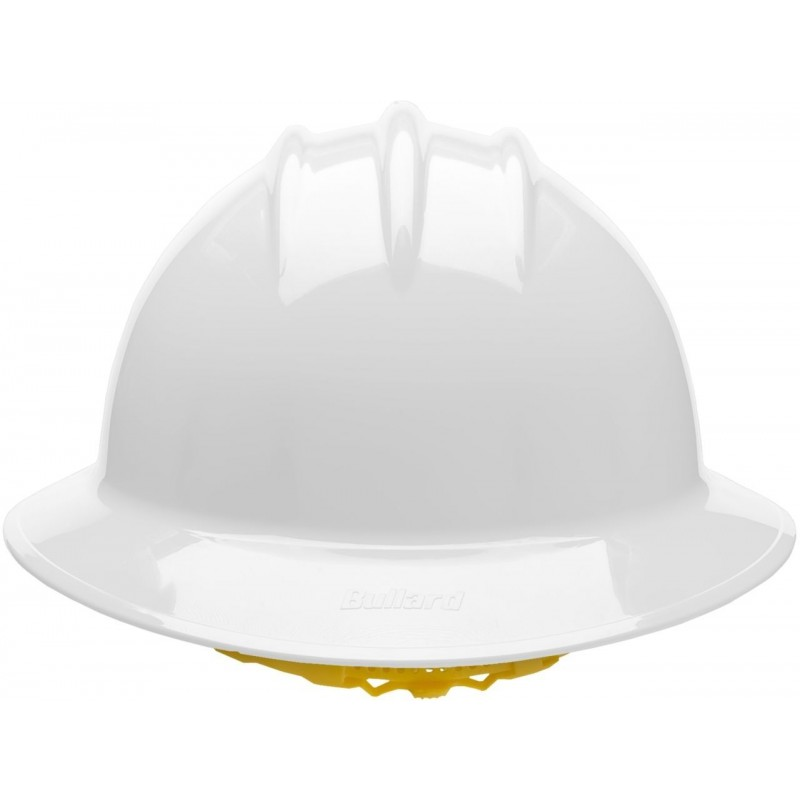 Bullard C35 35WHR 6pt. Ratchet Classic Extra Large Full Brim w/Accessory Slots White Hard Hat 20/Case