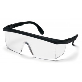 Pyramex  Integra  BlackRatchet Frame/Clear Lens  Safety Glasses  12/BX