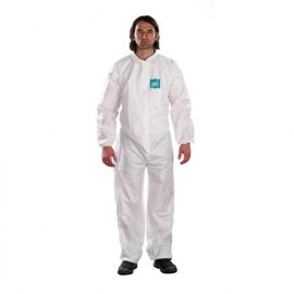 7815ff18f8ab Ansell MicroChem Bound Collared Coveralls AlphaTec 68 1800 Model 103  (25 Case)