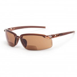 Radians ES5 Reader 1.25, Brown Brown Safety Glasses Frameless Brown 12 PR/Box