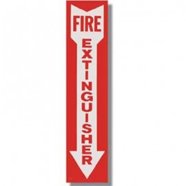 Brooks Fire Extinguisher Vinyl Sign - 4 in. x 18 in.