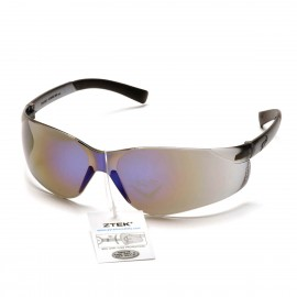 Pyramex Ztek Blue Mirror Frame/Blue Mirror Lens With Retail Tag 12/Box
