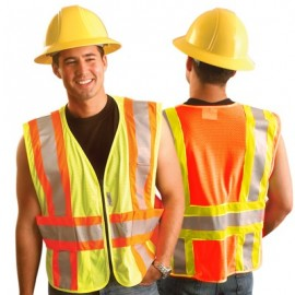 OccuLux Expandable Two-Tone Mesh Safety Vest