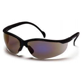 Pyramex Safety - Venture II - Black Frame/Blue Mirror Lens Polycarbonate Safety Glasses - 12 / BX