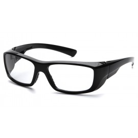 Pyramex  Emerge  Black Frame/Clear Lens  Safety Glasses  12/BX