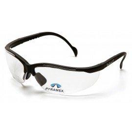 Pyramex Safety - V2 Readers - Black Frame/Clear + 2.0 Lens Anti-Fog Polycarbonate Safety Glasses - 6 / BX