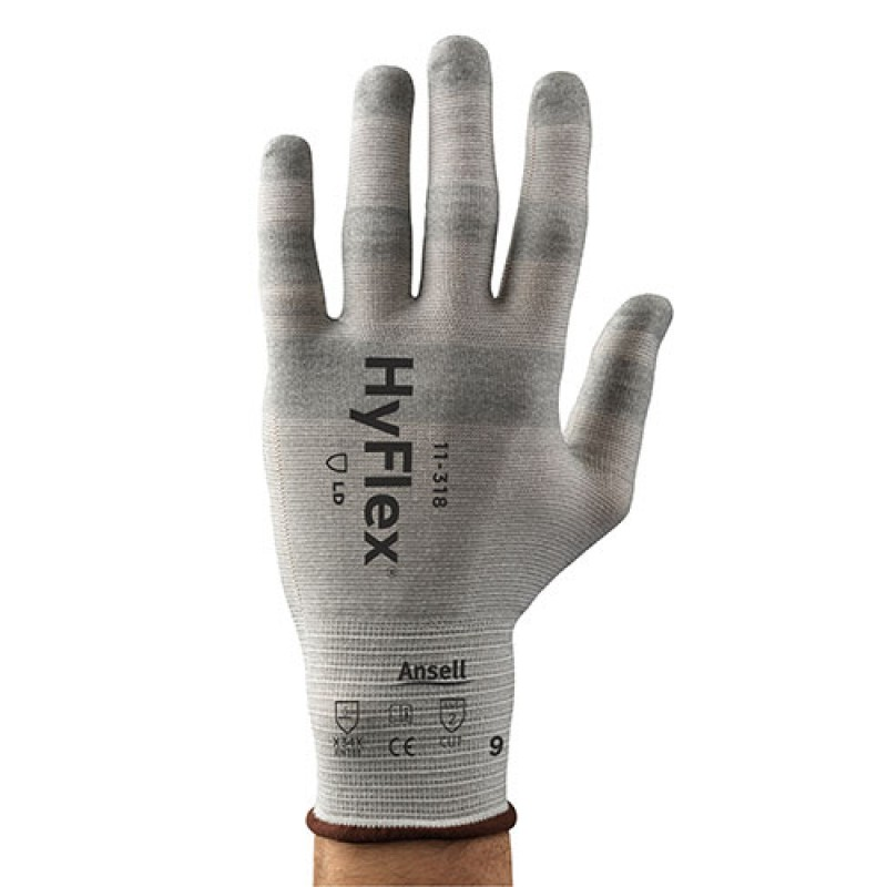 Ansell HyFlex Gloves Nylon Material White Color - 144 / Case