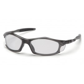 Pyramex Safety - Solara - Trans Gray Frame/Clear Lens Polycarbonate Safety Glasses - 12 / BX