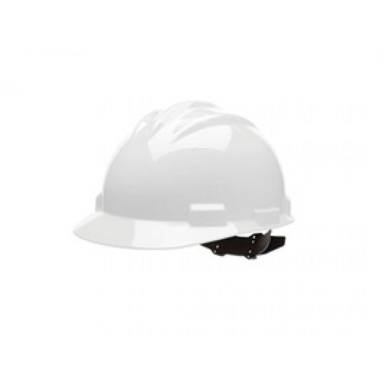 Bullard® White HDPE Cap Style Hard Hat With 4 Point Pinlock Suspension