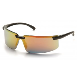 Pyramex Safety - Surveyor - Black Frame/Ice Orange Mirror Lens Polycarbonate Safety Glasses - 12 / BX
