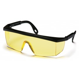 Pyramex  Integra  Black Frame/Amber Lens  Safety Glasses  12/BX