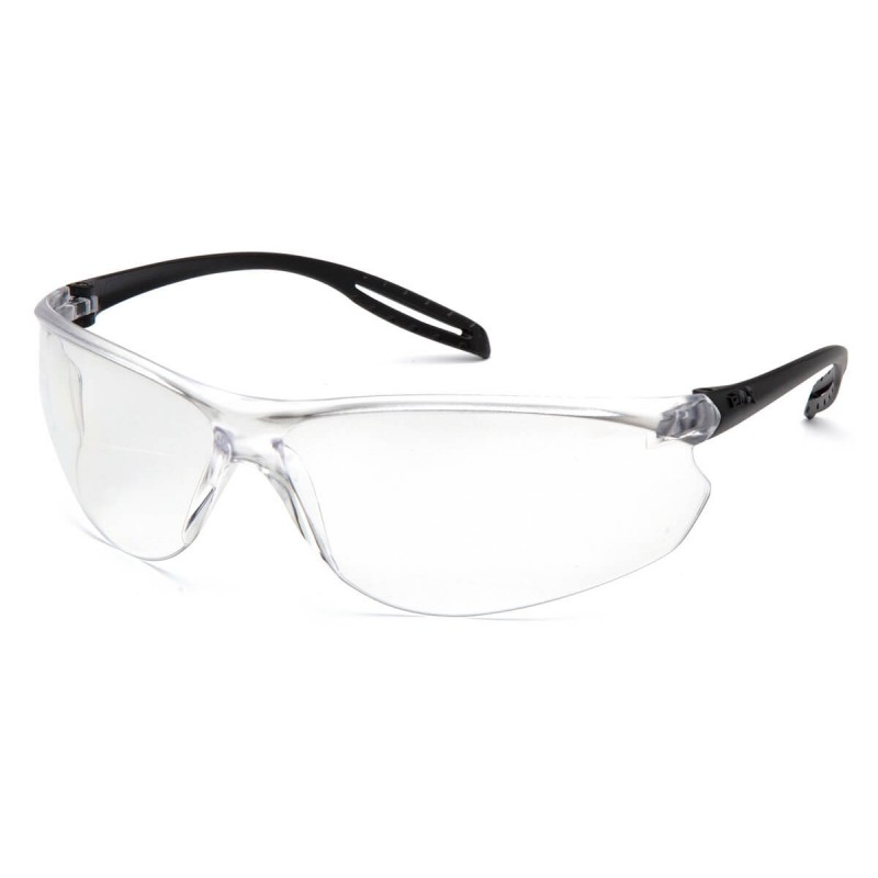 Pyramex Safety - Neshoba - Black Temples/Clear Lens Polycarbonate Safety Glasses - 12 / BX