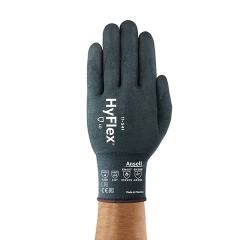 Ansell 11-818 Hyflex Fortix Palm-side Coated Blue Gloves Size 6