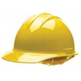 Bullard® Yellow HDPE Cap Style Hard Hat With 6 Point Rachet Suspension