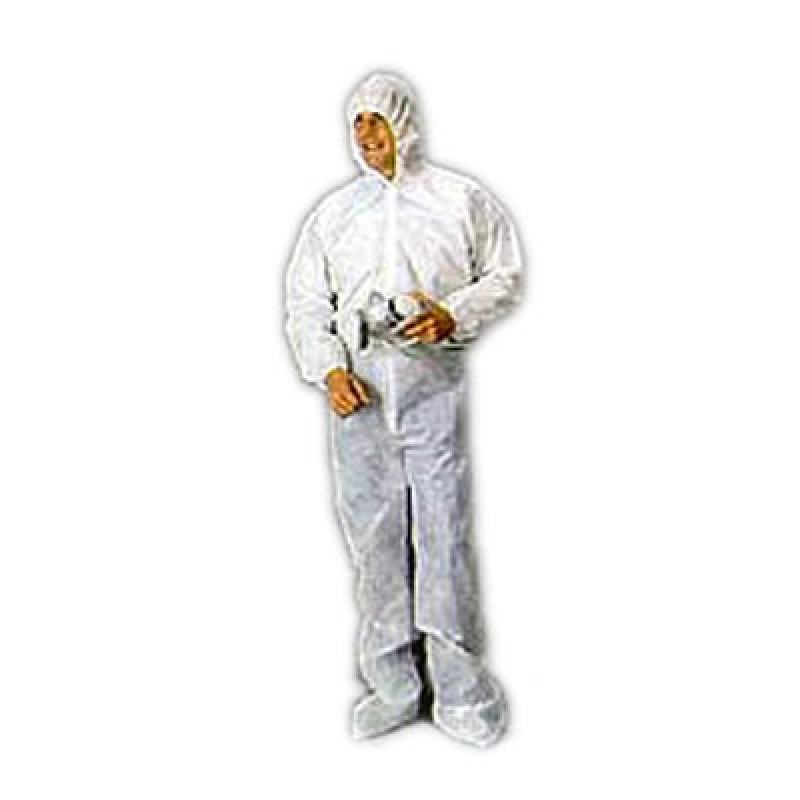 Malt Industries Polypropylene Coverall w/Hood, Boots and Elastic Wrists 25/Case
