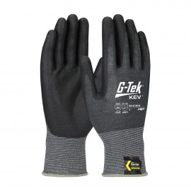 G Tek Kev Seamless KnitKevlar® Glove  Nitrile Coated Foam Grip 13 Gauge Gray  72 Pairs