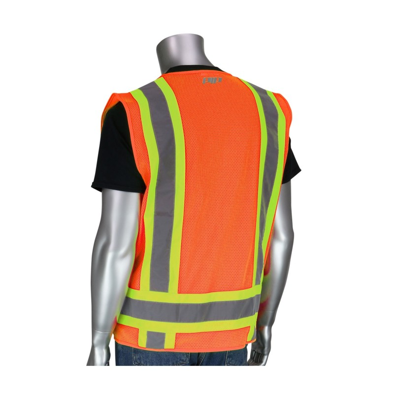 PIP ANSI Type R Class 2 Two-Tone Eleven Pocket Surveyors Vest