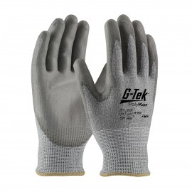 PIP 16-560/L G-Tek Seamless Knit PolyKor Blended Glove with Polyurethane Coated Smooth Grip on Palm & Fingers Large 6 DZ