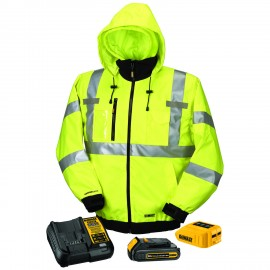 Dewalt High Visibility Class 3 Three-in-one Heated Jacket - Full Kit  Yellow Color - 1 / Box