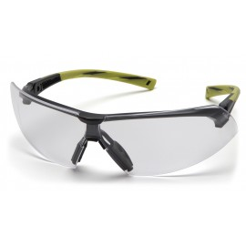 Pyramex  Onix  Hi Vis Green Frame/Clear AntiFog Lens  Safety Glasses  12/BX