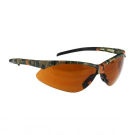 Radians Rad-Apocalypse - Bronze Anti-Fog Lens - Camo Frame Safety Glasses Half Frame Style Camo Color - 12 Pairs / Box