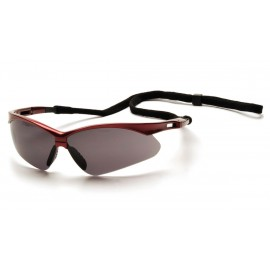 Pyramex Safety - PMXTREME - Red Frame/Gray Lens with Black Cord Polycarbonate Safety Glasses - 12 / BX