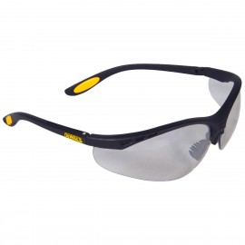 DEWALT Reinforcer - Indoor/Outdoor Lens Safety Glasses Half Frame Style Black Color - 12 Pairs / Box