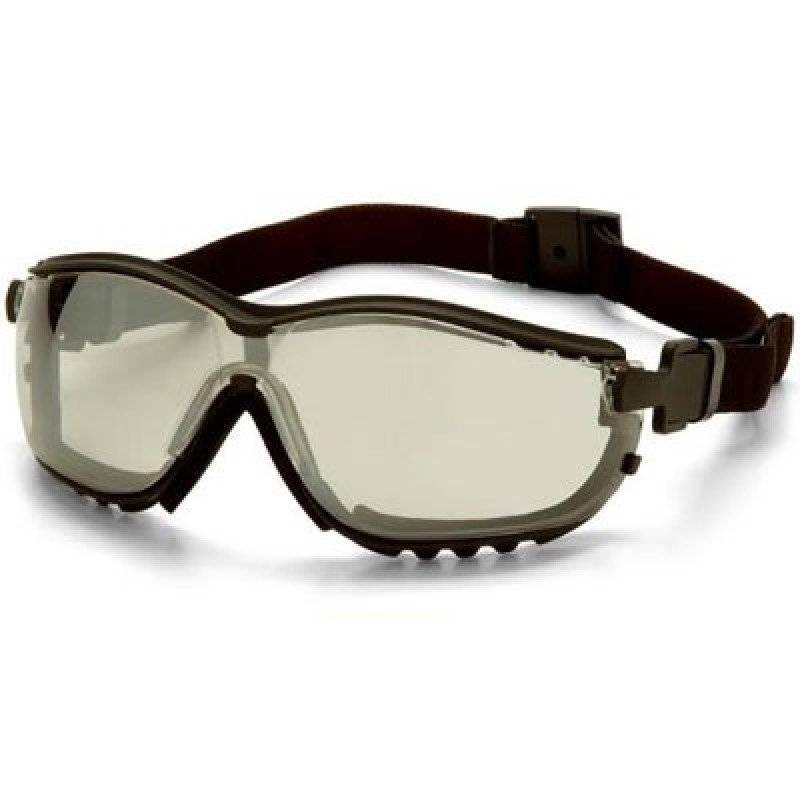 Pyramex V2G Black Frame/Indoor/Outdoor Mirror Anti-Fog Lens