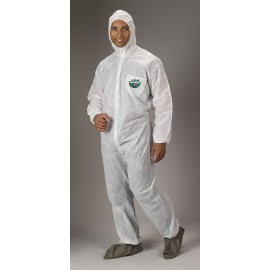 Lakeland SafeGard Coverall - Attached Hood, Boots & Elastic Wrists (SMS) | 8414 25/CS