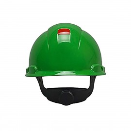 3M™ Hard Hat with Uvicator H-704V-UV, Vented, Green, 4-Point Ratchet Suspension, 20 EA/Case