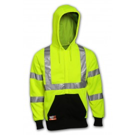 Tingley S88122.MD Class 3 FR Sweatshirt Fluorescent Yellow-Green Hooded