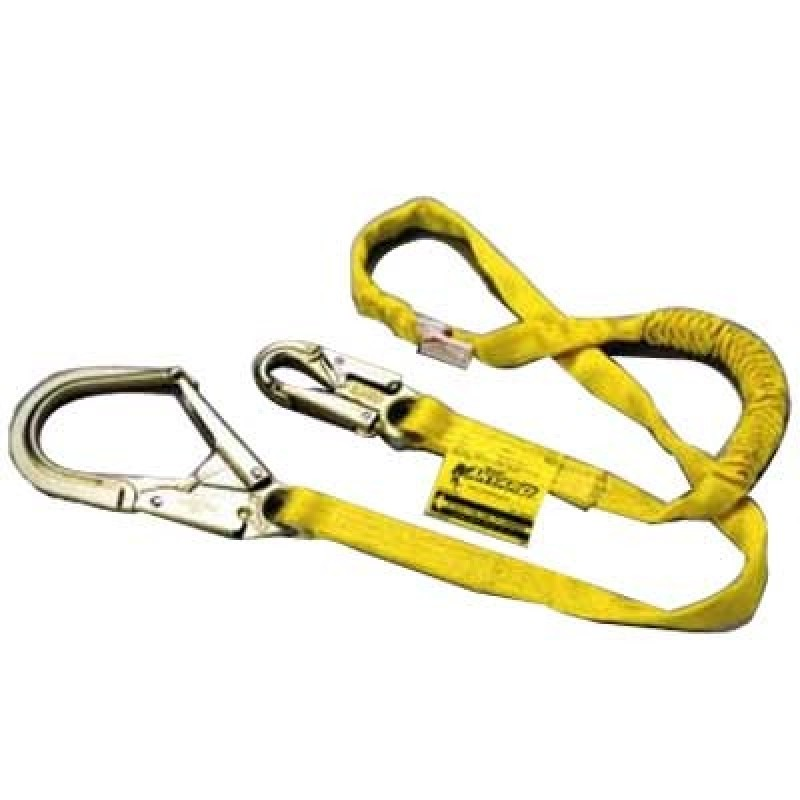 Miller Manyard Shock-Absorbing Lanyard Single Leg-Rebar Hook