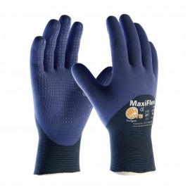 PIP ATG 34-245 MaxiFlex Elite Gloves - Ultra Lightweight - Dotted Palms - Nitrile Micro-Foam - Blue Color (1 DZ)