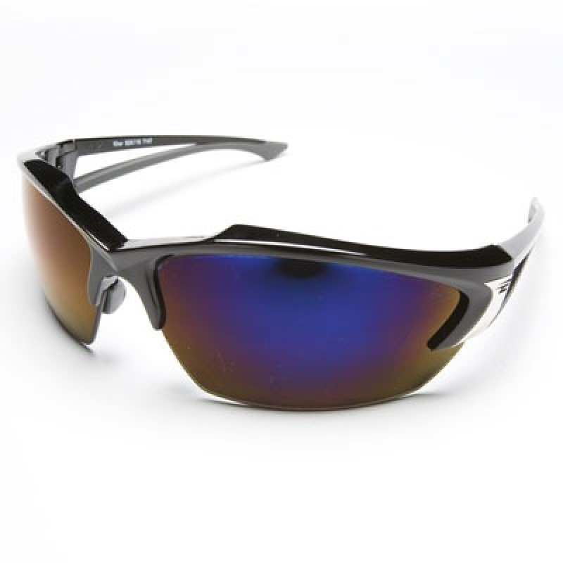 Edge Khor Safety Glasses - Blue Mirror Lens