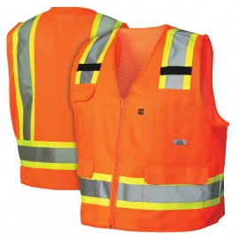 Pyramex Lumen X Hi-Vis Orange -  Self Extinguishing- Size 3X Large