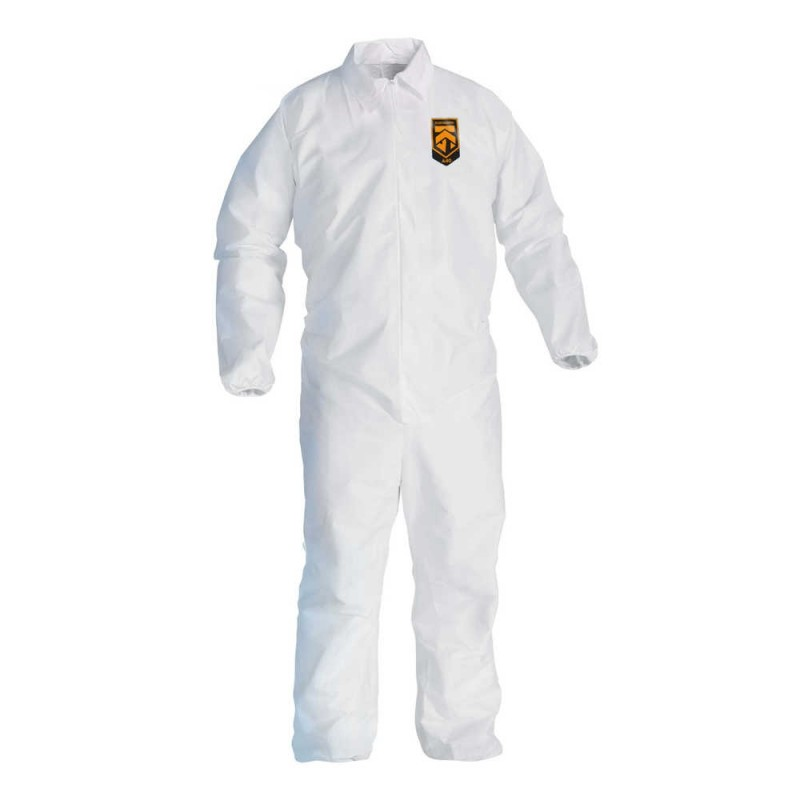 Kimberly Clark 44313 Kleenguard™ A40 Liquid & Particle Protection Coveralls 25/Case Large