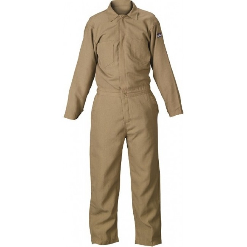 Lakeland 7 oz.100% FR Cotton Coveralls Khaki Color (1 EA)