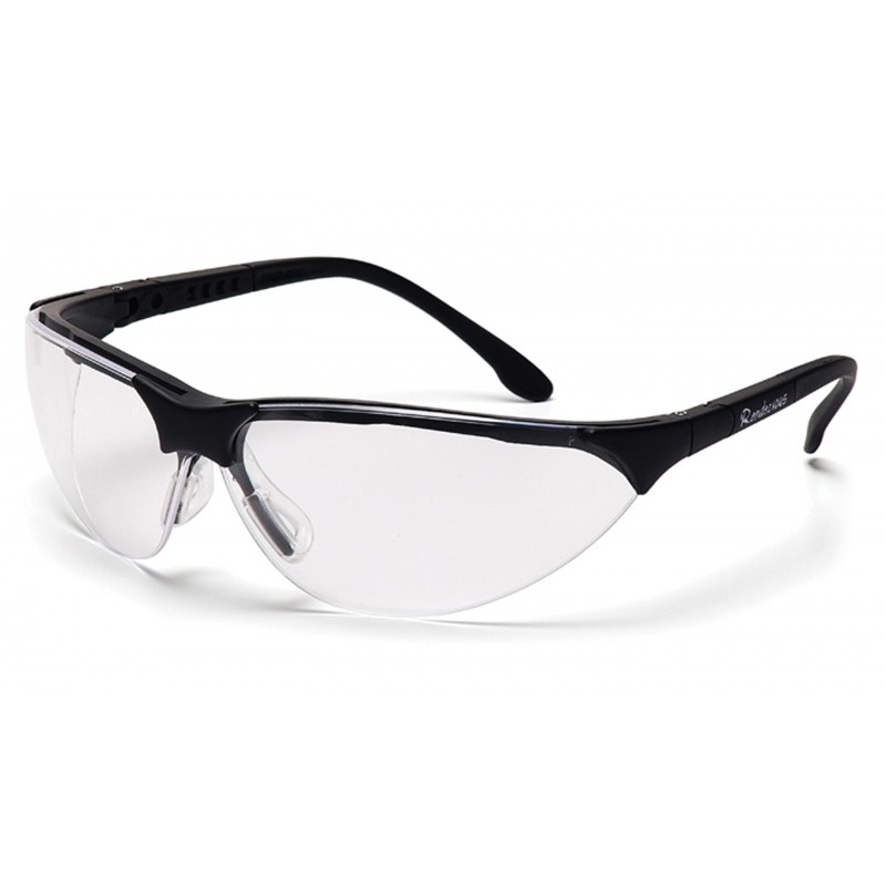 Pyramex Rendezvous Black Frame/Clear Anti-Fog Lens 12/Box