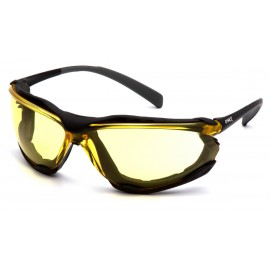 Pyramex Safety - Proximity - Black frame/ Amber anti-fog lens Polycarbonate Safety Glasses - 12 / BX