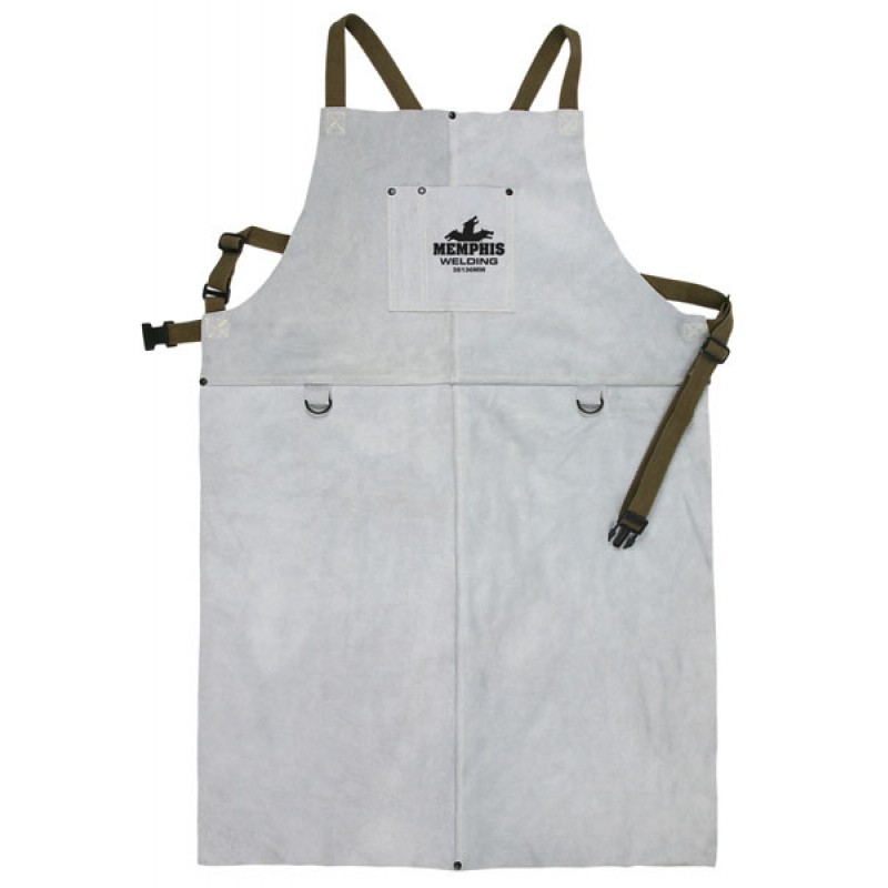 "Memphis Welding Bib Apron with Front Pocket, 24"" x 36"" - 38136MW"