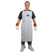 "Memphis Welding Bib Apron with Front Pocket, 24"" x 42"" - 38142MW"