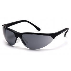 Pyramex Safety - Rendezvous - Black Frame/Gray Lens Polycarbonate Safety Glasses - 12 / BX
