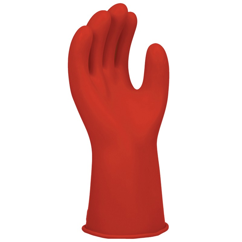 Salisbury Red Class 00 Electrical Insulating Rubber Gloves - 11 inch     Red Color - 1 Pair