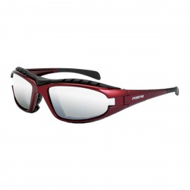 Radians Diamondback Silver Mirror Red Safety Glasses Red 12 PR/Box